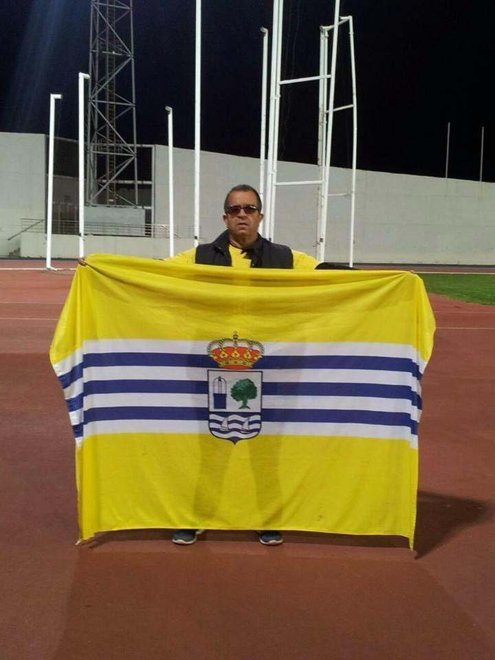 El Atleta Isleño Toni Palma en el Control de Segovia