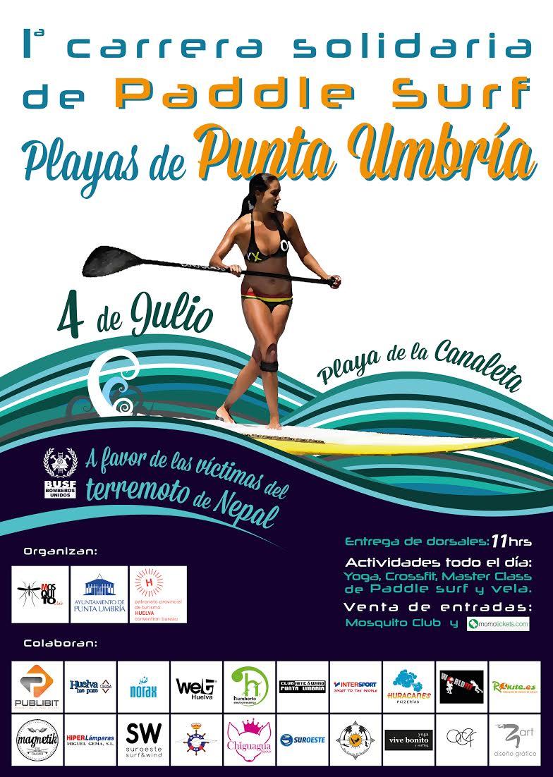 I Carrera Solidaria de Paddle Surf Playas de Punta Umbría