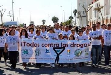 Multitudinaria marcha contra las Drogas convocada por ARATI en Isla Cristina
