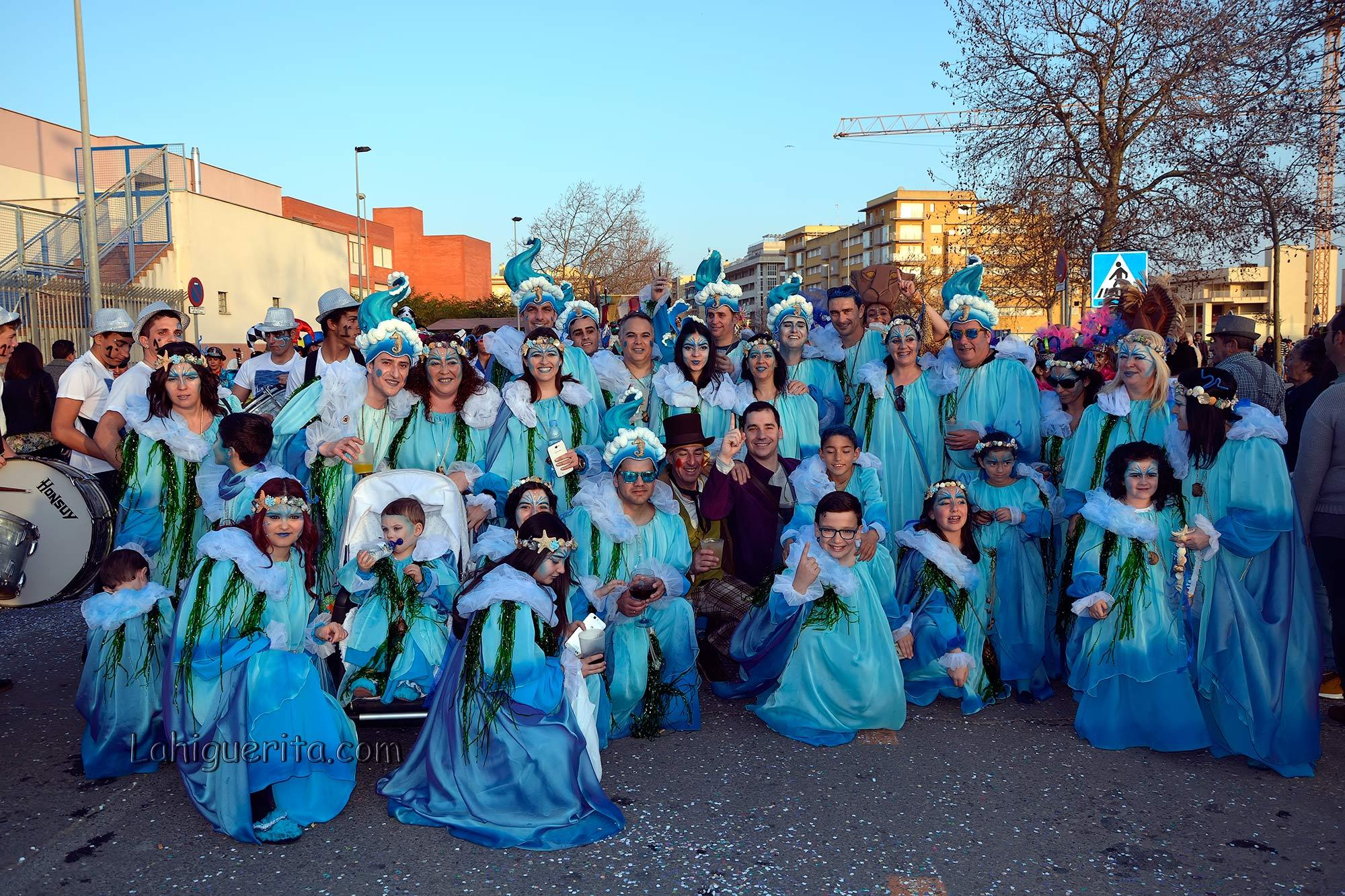 Cabalgata de disfraces en el Carnaval de Isla Cristina 2017
