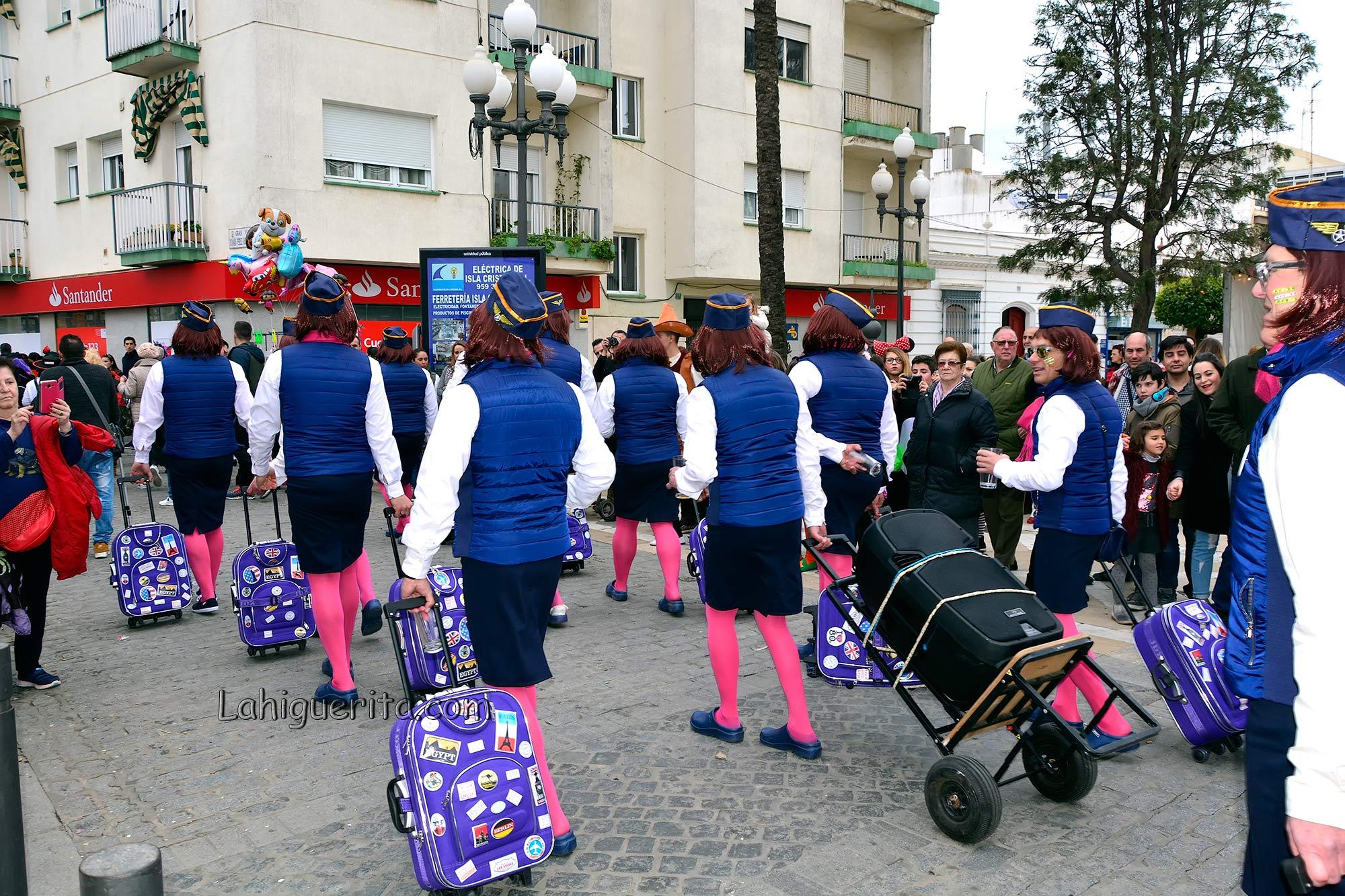 Martes de disfraces en Isla Cristina