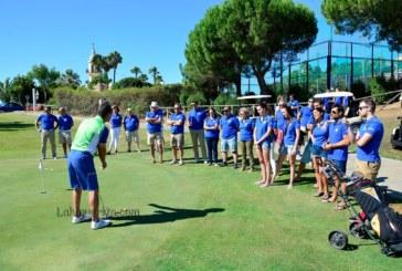 Clase de golf con famosos en la XV Gala Benéfica contra el Cáncer