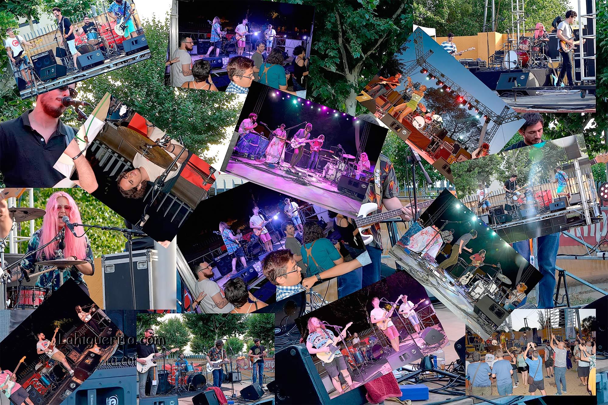 Popurri fotográfico de los grupos que actuaron en el Festival Anfirock Isla Cristina 2017