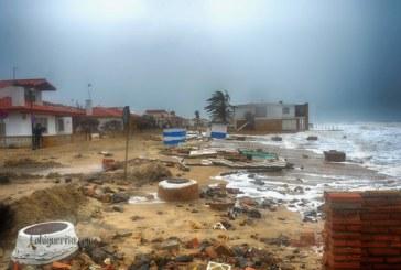 Destrozos en La Antilla causados por la borrasca