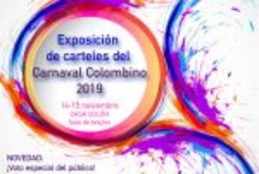 Exposición de carteles del Carnaval Colombino 2019