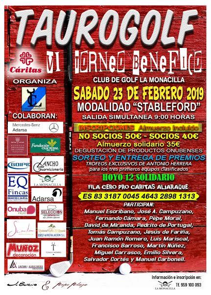 Presentada la VI edición del Torneo Benéfico TauroGolf