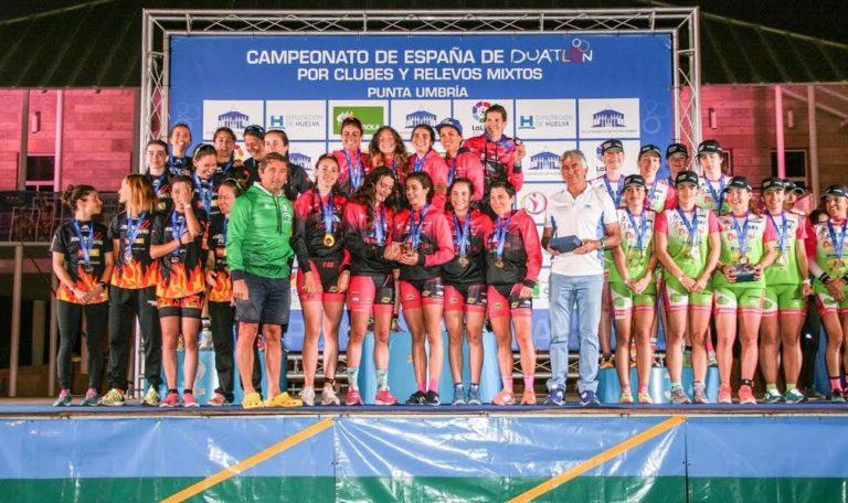 Cidade Lugo femenino y Marlins Triatlón masculino campeones de España de Duatlón por Clubes en Punta Umbría