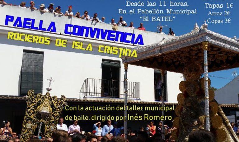 Paella de convivencia de los rocieros de Isla Cristina