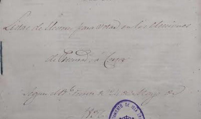 Documento del mes de Mayo de los archivos municipales de Isla Cristina