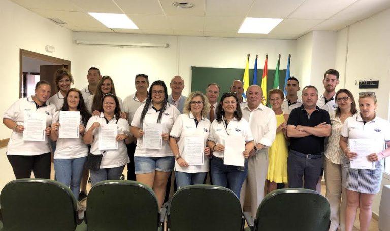 El Delegado Territorial de Empleo clausura el Taller de Empleo Quercus en el CEFO de Islantilla